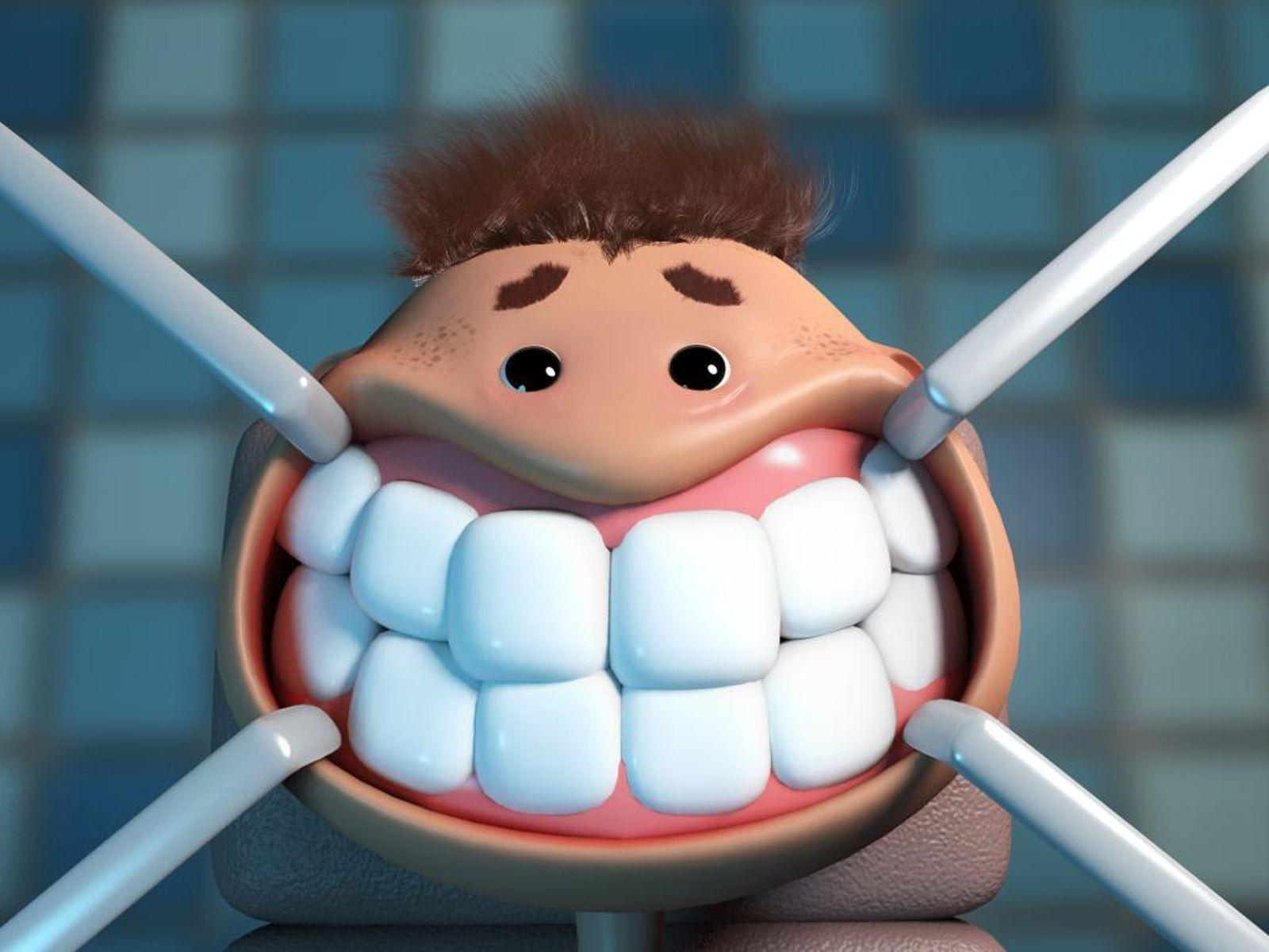 Рисунок февраля, картинка про зубы приколы